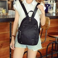 Bibiba - Studded Canvas Backpack