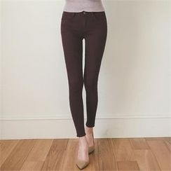 ode' - Brushed Fleece Lined Skinny Pants