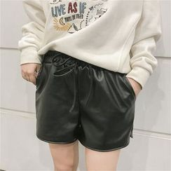 Jolly Club - Faux-Leather Shorts