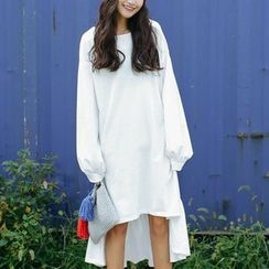SUYISODA - Ruffle Hem Pullover Dress