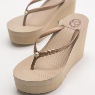 FM Shoes - Wedge Flip-Flops
