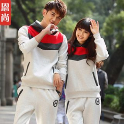 Igsoo - Couple Set: Hooded Top + Sweatpants