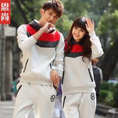 Igsoo - 情侶套裝﹕連帽上衣 + 運動褲