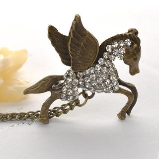 Fit-to-Kill - Crystal Flying Horse Brooch