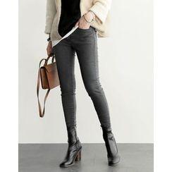UPTOWNHOLIC - Fleece-Lined Skinny Pants