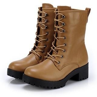 Exull - Lace-Up Short Boots