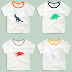 lalalove - Kids Dinosaur Short-Sleeve T-shirt