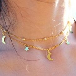 Darlin - Star&Moon Necklace