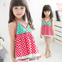Mermaid's Tale - Kids Polka Dot Swimdress