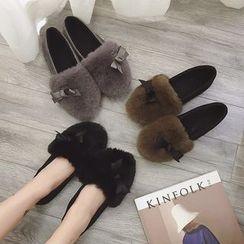 Simply Walk - 毛毛邊平跟鞋