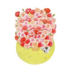 Full House - dwon - Flower Greeting Card