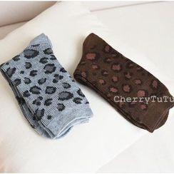 櫻桃兔兔 - 豹紋襪子