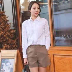 ode' - Pocket-Front Plain Shirt
