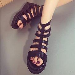 Mancienne - Gladiator Wedge Sandals