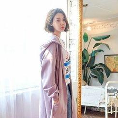 Seoul Fashion - Pocket-Side Long Hoodie