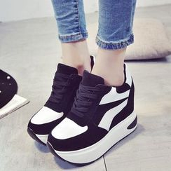 Wello - Platform Hidden Wedge Sneakers