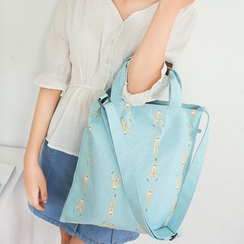 KIITOS - Printed Canvas Shopper Bag