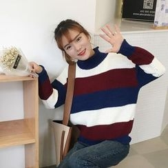QZ Lady - Striped Chunky Sweater