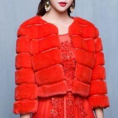 名貴風格 - 人造皮毛大衣