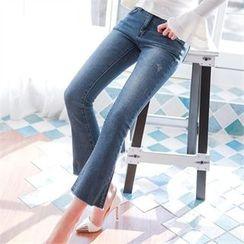 Babi n Pumkin - Fray-Hem Boot-Cut Jeans