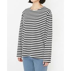 Someday, if - Round-Neck Striped T-Shirt