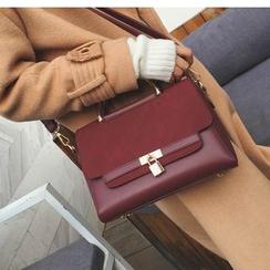 Aishang - 人造麂皮拼接手提包