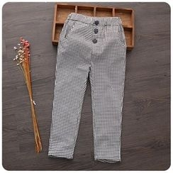 Rakkaus - Kids Button Check Pants