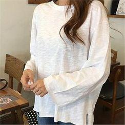 QNIGIRLS - 3/4-Sleeve Melange T-Shirt