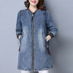 Romika - 3/4-Sleeve Long Denim Jacket