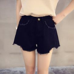 IndiGirl - Fray-Hem Shorts