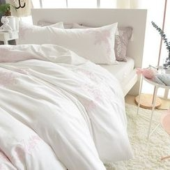 Petrie - Bedding Set: Embroidered Quilt  + Bed Sheet + Pillowcase