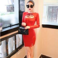 Jolly Club - Long-Sleeve Cutout Dress