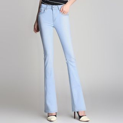 Denimot - Washed Boot Cut Jeans