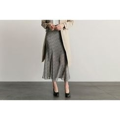 UPTOWNHOLIC - Pattern Chiffon Long Skirt
