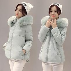 Ekim - Furry Hooded Padded Jacket