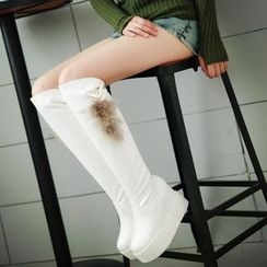 Charming Kicks - Hidden Wedge Platform Over The Knee Boots