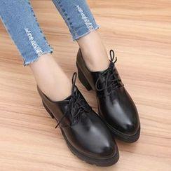 Simply Walk - 粗跟系带鞋