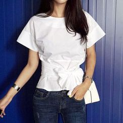 OTTI - Short-Sleeve Bow Accent T-Shirt