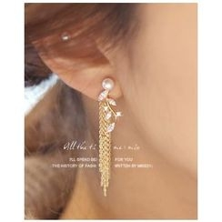Miss21 Korea - Chain-Drop Earrings