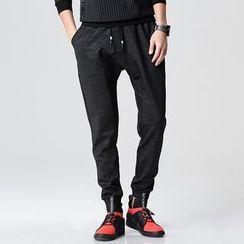 LIBIN - 抽绳束脚裤