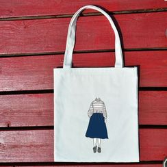 DUYU - Print Canvas Shopper Bag