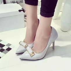 HOONA - Bow-Accent Pumps