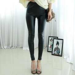 Dodostyle - Faux-Leather Leggings