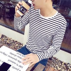 ZZP HOMME - Striped Long Sleeve T-Shirt