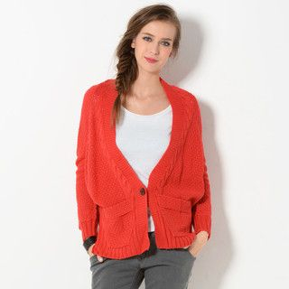 YesStyle Z - Single-Button Short Cardigan