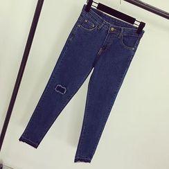 Honeydew - 散邊窄身牛仔褲