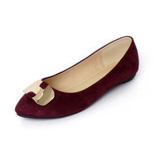 YesStyle Footwear - Faux Suede Flats