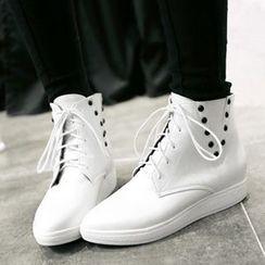 Tomma - 鉚釘結帶短靴