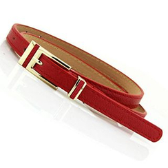 Follow Me - Faux Leather Slim Belt