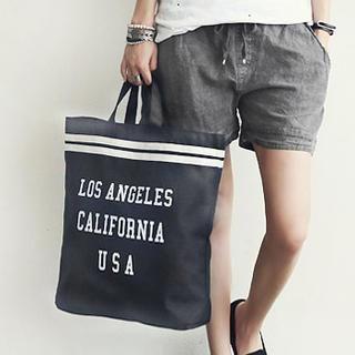 NANING9 - Lettering Print Shopper Bag